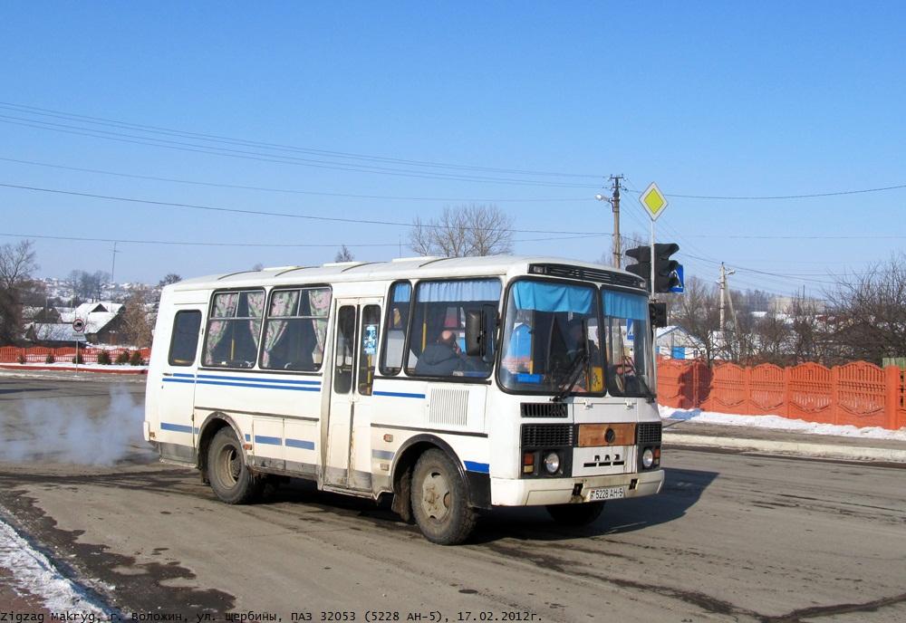 Volozhin, PAZ-32053 # 5228 АН-5