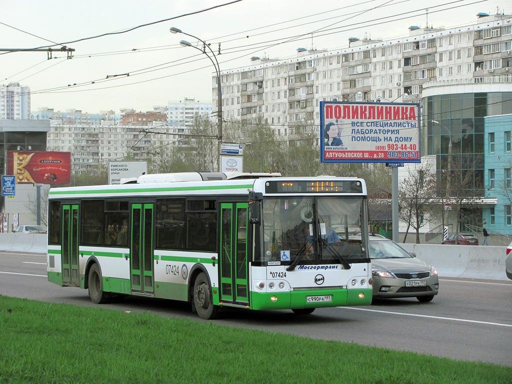 Moscow, LiAZ-5292.21 # 07424