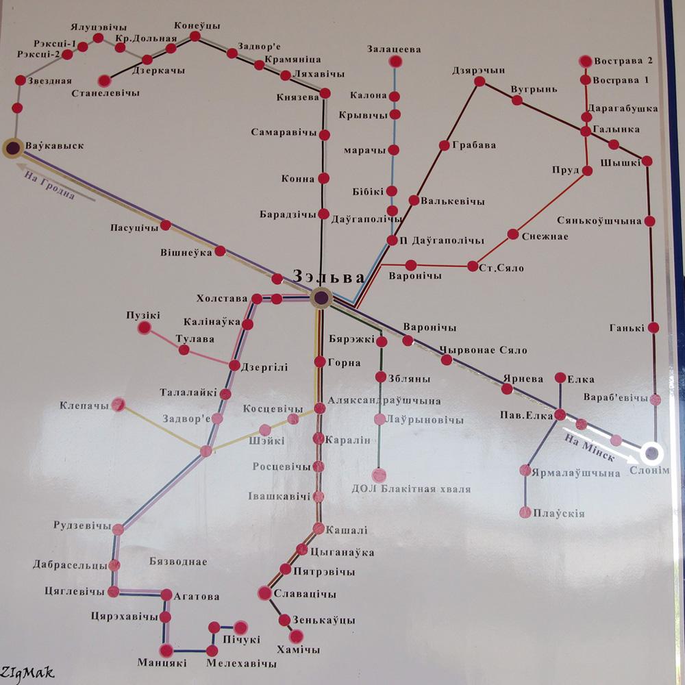 Zelva — Maps; Maps routes (Zelva)