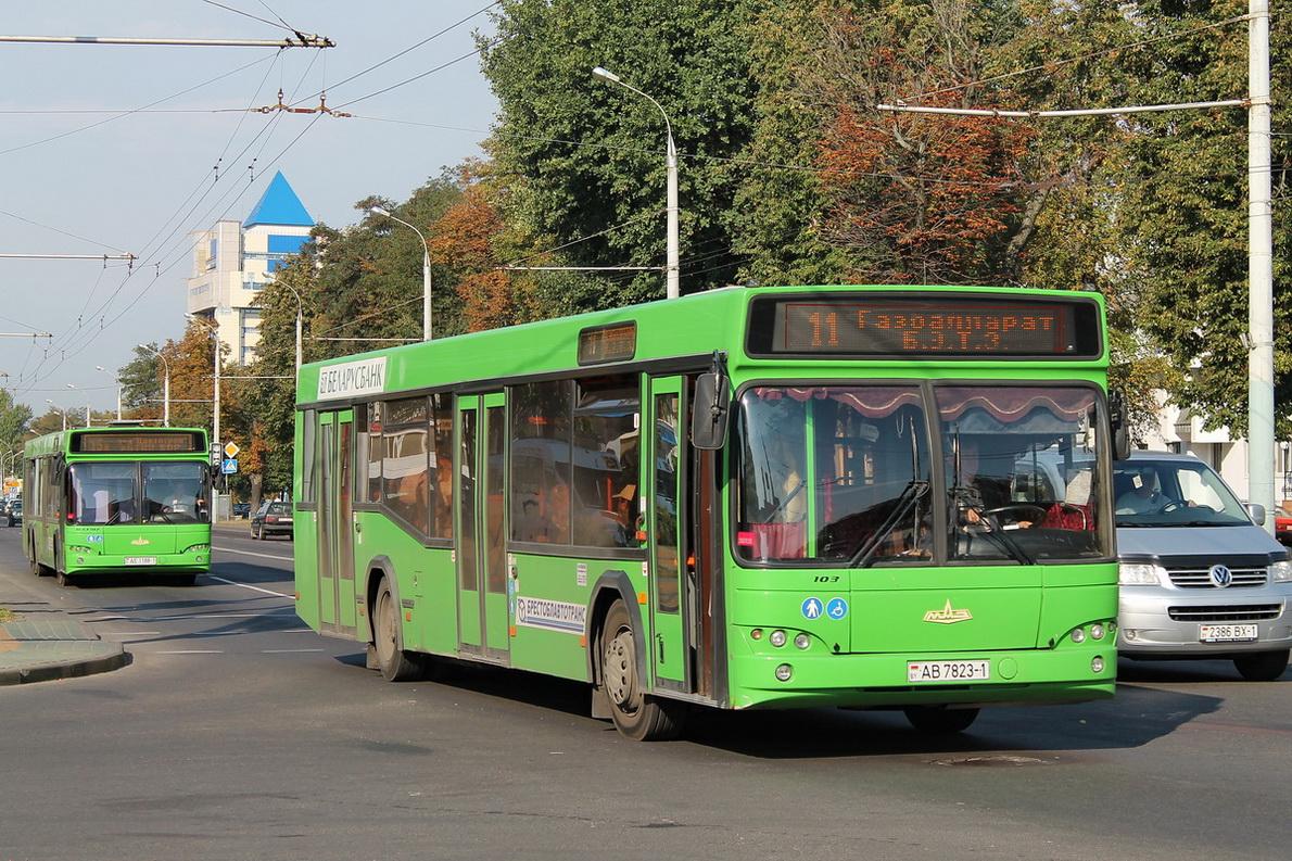 Brest, MAZ-107.466 # 396; Brest, MAZ-103.465 # 374