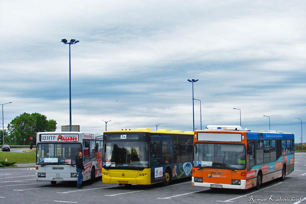 Lviv, Mercedes-Benz O405N2 # ВС 6413 СО; Lviv, LAZ A292D1 # ВС 2953 АА; Lviv, Mercedes-Benz O405N2 # ВС 7541 СО; Lviv — Miscellaneous photos
