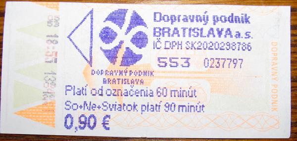 Bratislava — Tickets