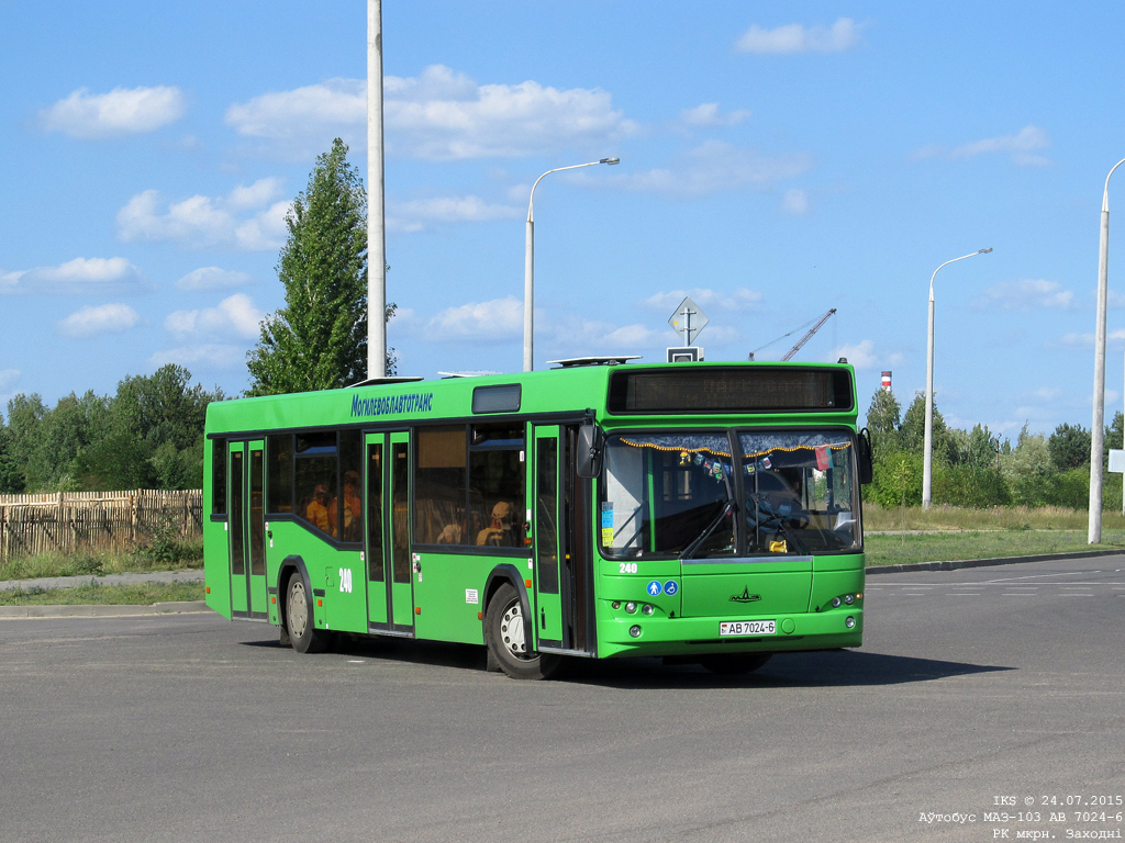 Bobruisk, MAZ-103.465 # 240