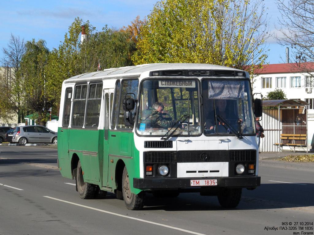 Bobruisk, PAZ-3205 # ТМ 1835