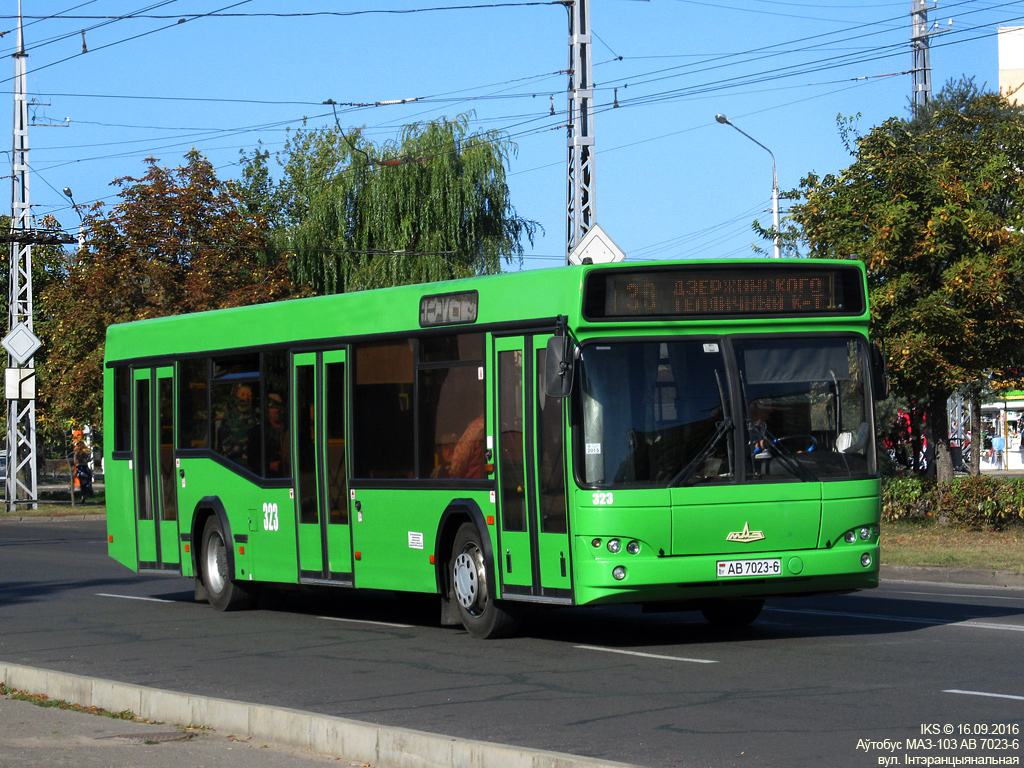 Bobruisk, MAZ-103.465 # 323