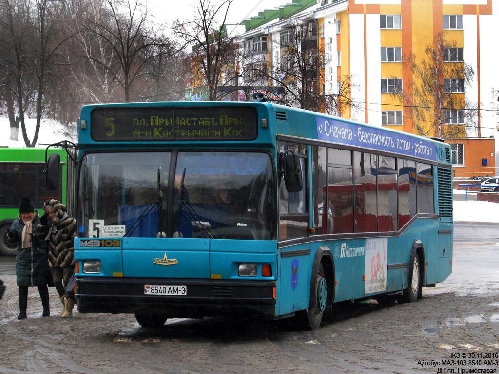 Mozyr, MAZ-103.062 # 8540 АМ-3