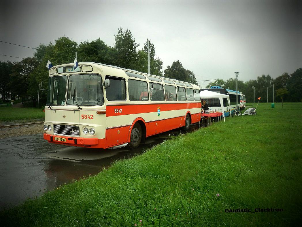Ostrava, Karosa ŠM11.1630MOC # 5842; Ostrava — 11.9.2014 — Parade to 120th anniversary of Ostrava public transport