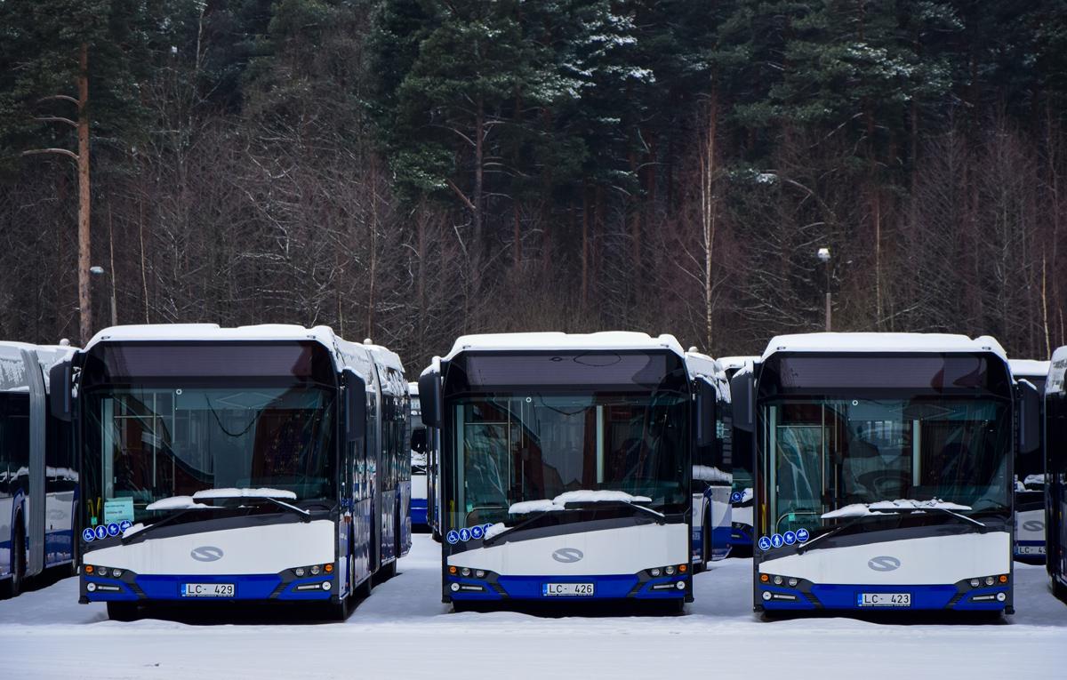 Riga, Solaris Urbino IV 18 # LC-429; Riga, Solaris Urbino IV 18 # LC-426; Riga, Solaris Urbino IV 18 # LC-423
