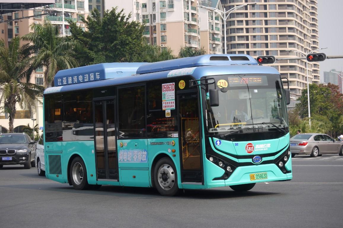 Shenzhen, BYD CK6810LZEV (K7) # 05863D