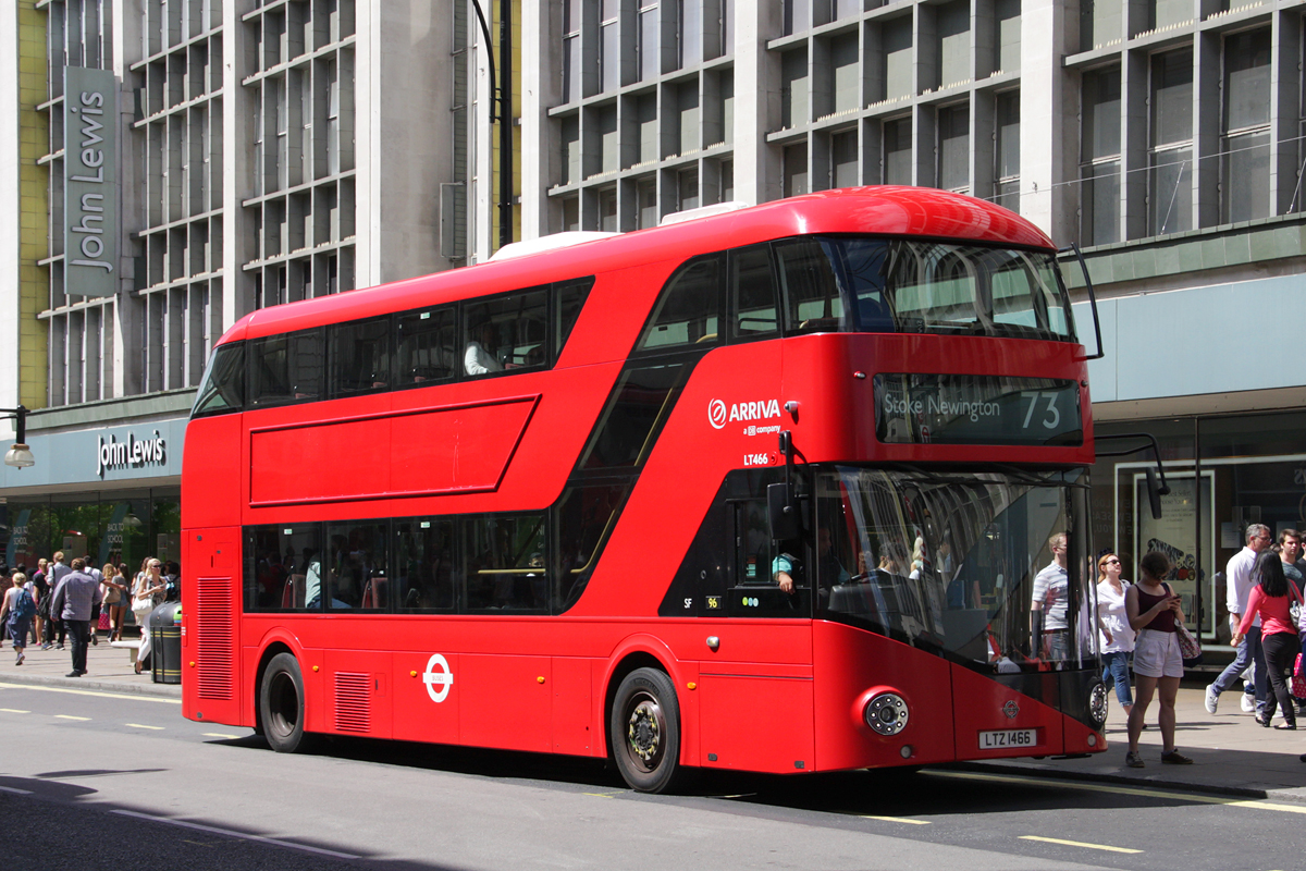 London, Wright New Bus for London # LT466