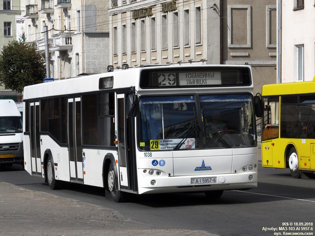 Mogilev, MAZ-103.465 # 1038; Mogilev, Nizhegorodets-222702 (Ford Transit) # 6ТАХ4708