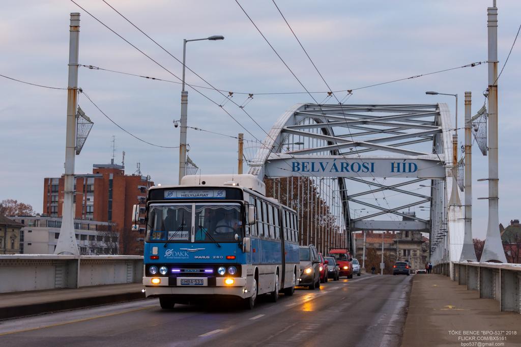 Kecskemét, Ikarus 280.52G # HBA-531; Szeged — Special Photographer Route [HBA-531] 2018.12.08