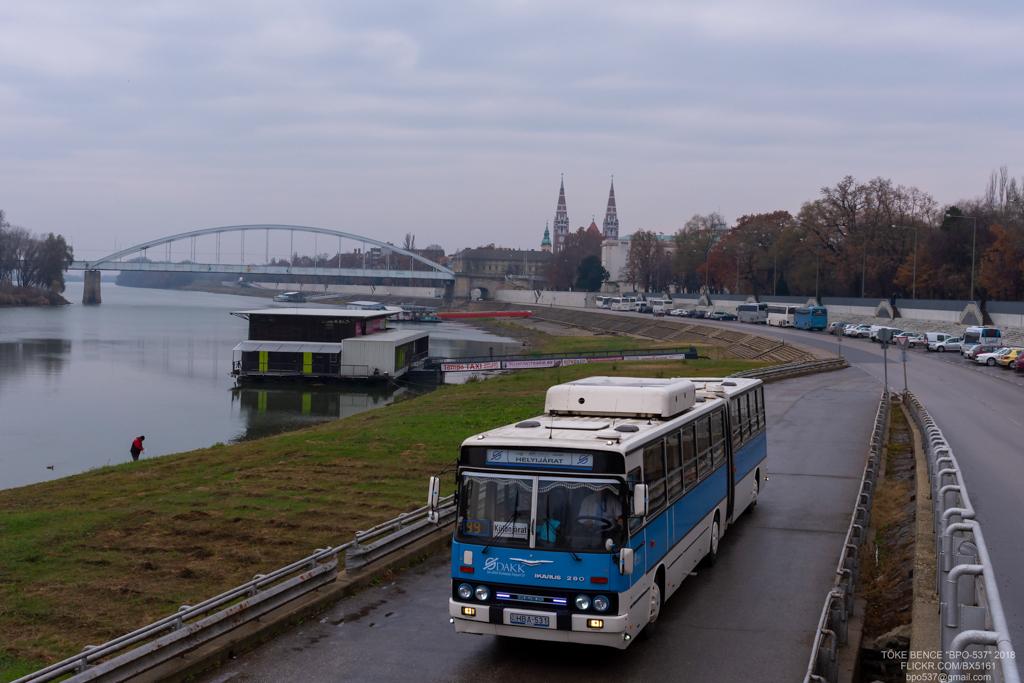 Kecskemét, Ikarus 280.52G # HBA-531; Szeged — Special Photographer Route 2018.12.08. HBA-531
