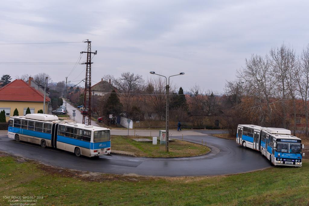 Kecskemét, Ikarus 280.52G # HBA-531; Kecskemét, Ikarus 280.52G # GOX-157; Szeged — Special Photographer Route 2018.12.08. HBA-531