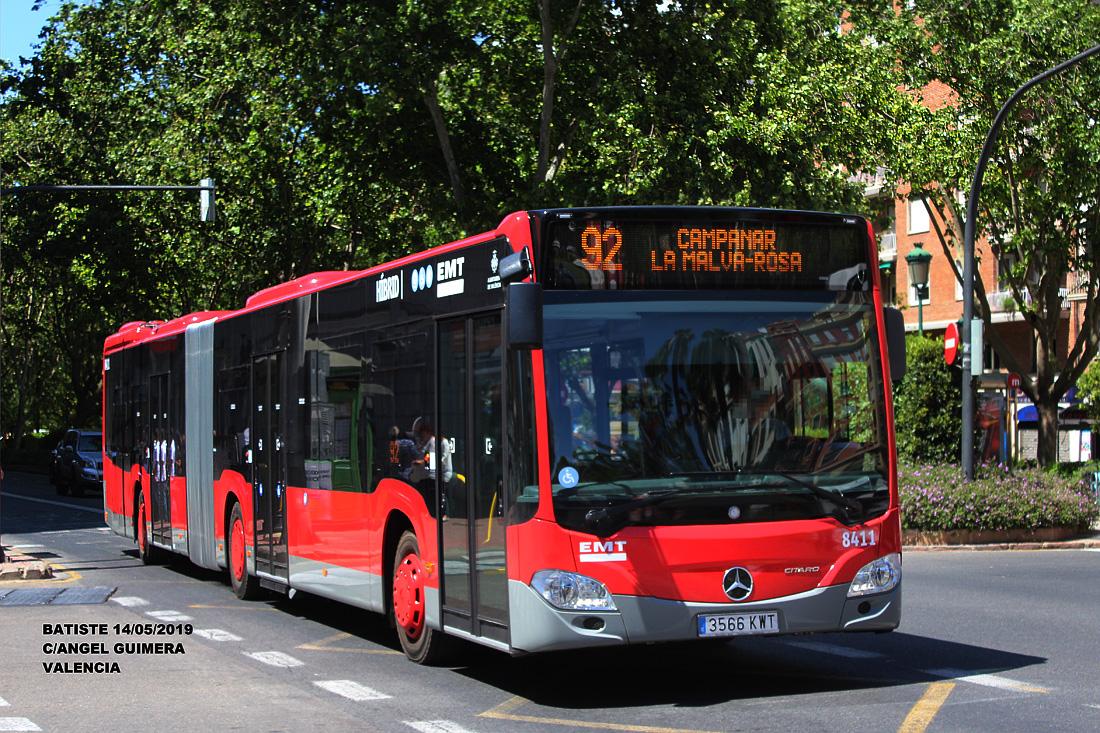 Valencia, Mercedes-Benz Citaro C2G Hybrid # 8411