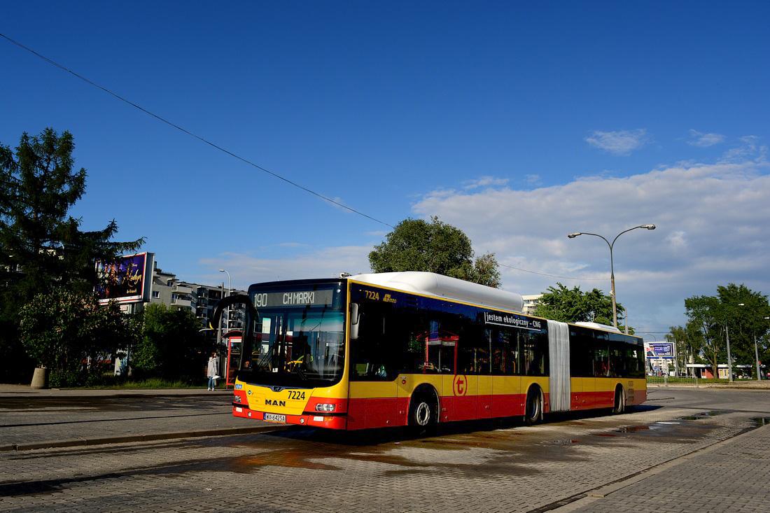 Warsaw, MAN A23 Lion's City G NG313 CNG # 7224