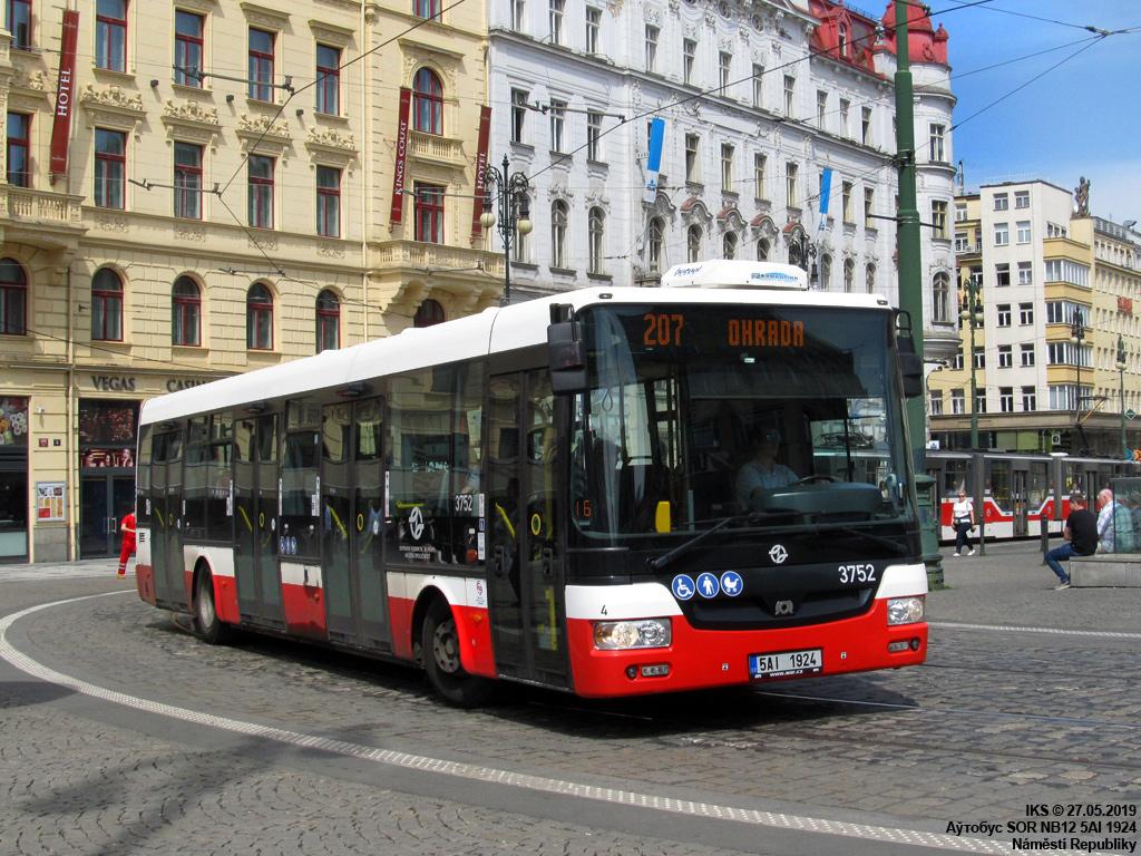 Prague, SOR NB12 # 3752