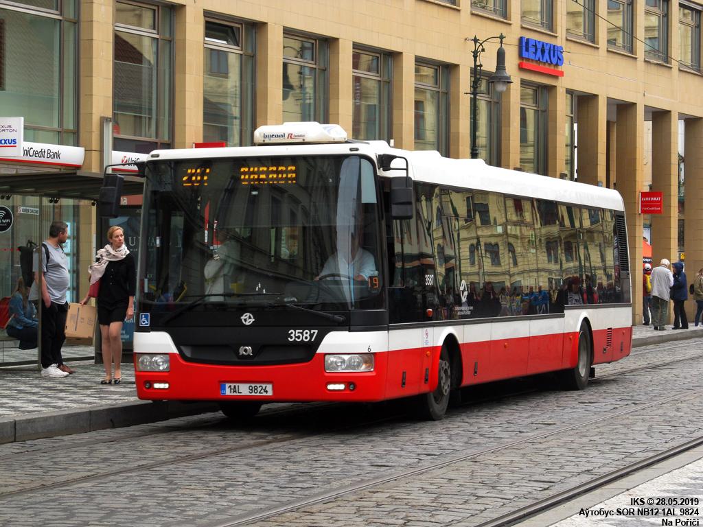 Prague, SOR NB12 # 3587