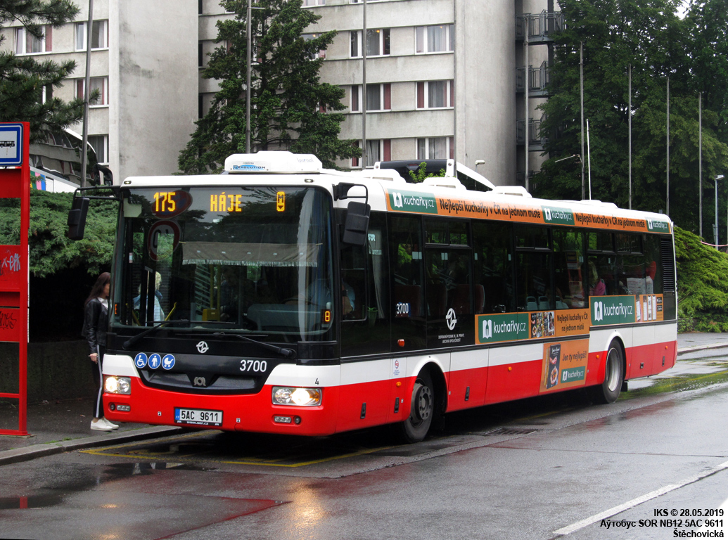 Prague, SOR NB12 # 3700