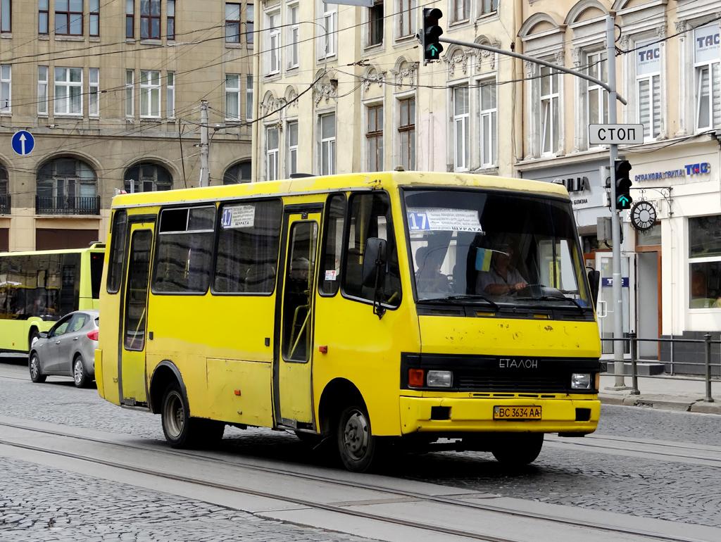 """Lviv, BAZ-А079.14 """"Эталон"""" # ВС 3634 АА"""
