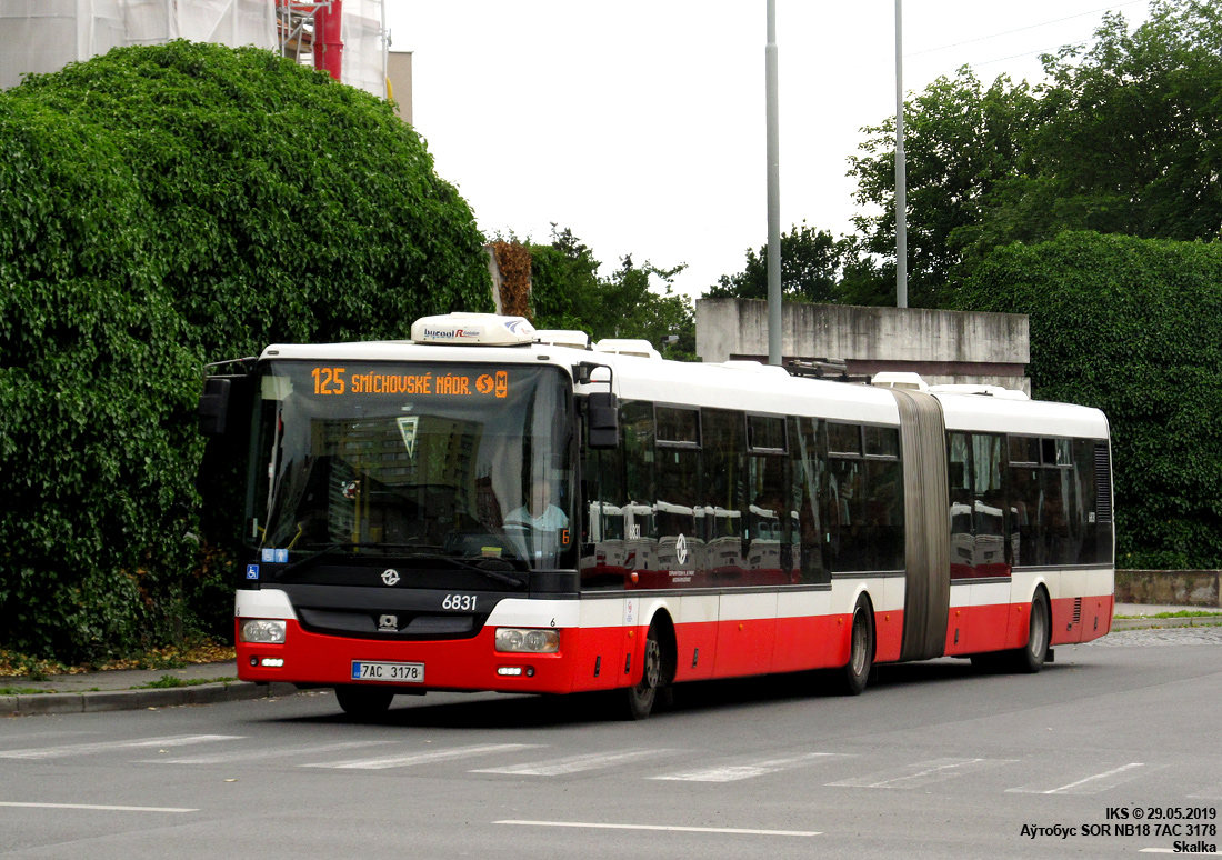 Prague, SOR NB18 # 6831