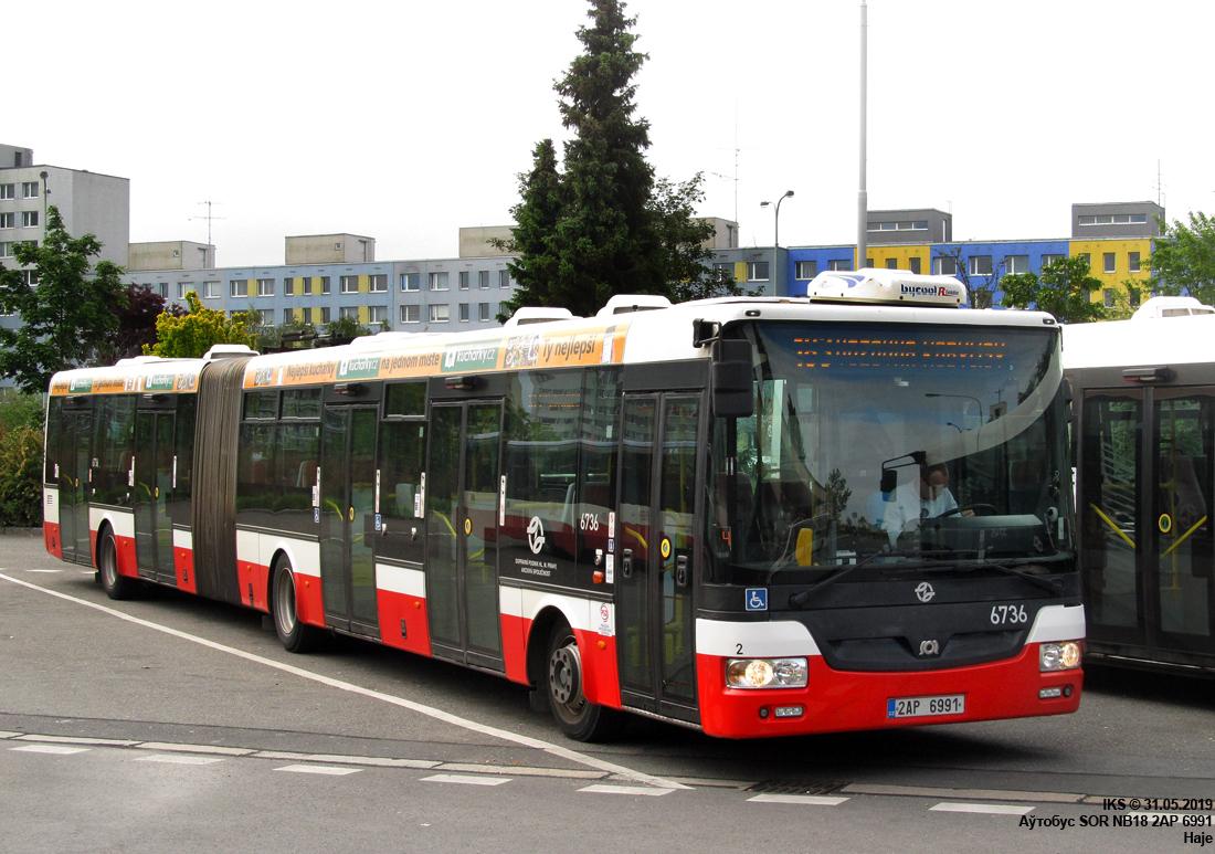 Prague, SOR NB18 # 6736