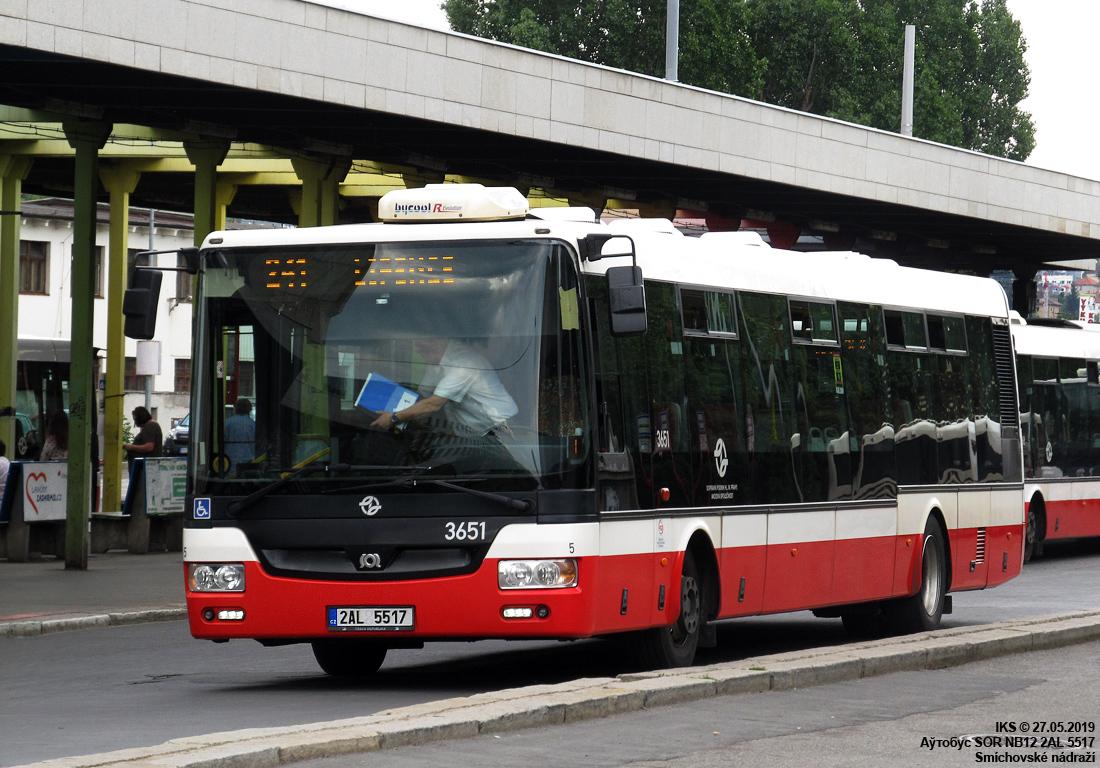 Prague, SOR NB12 # 3651
