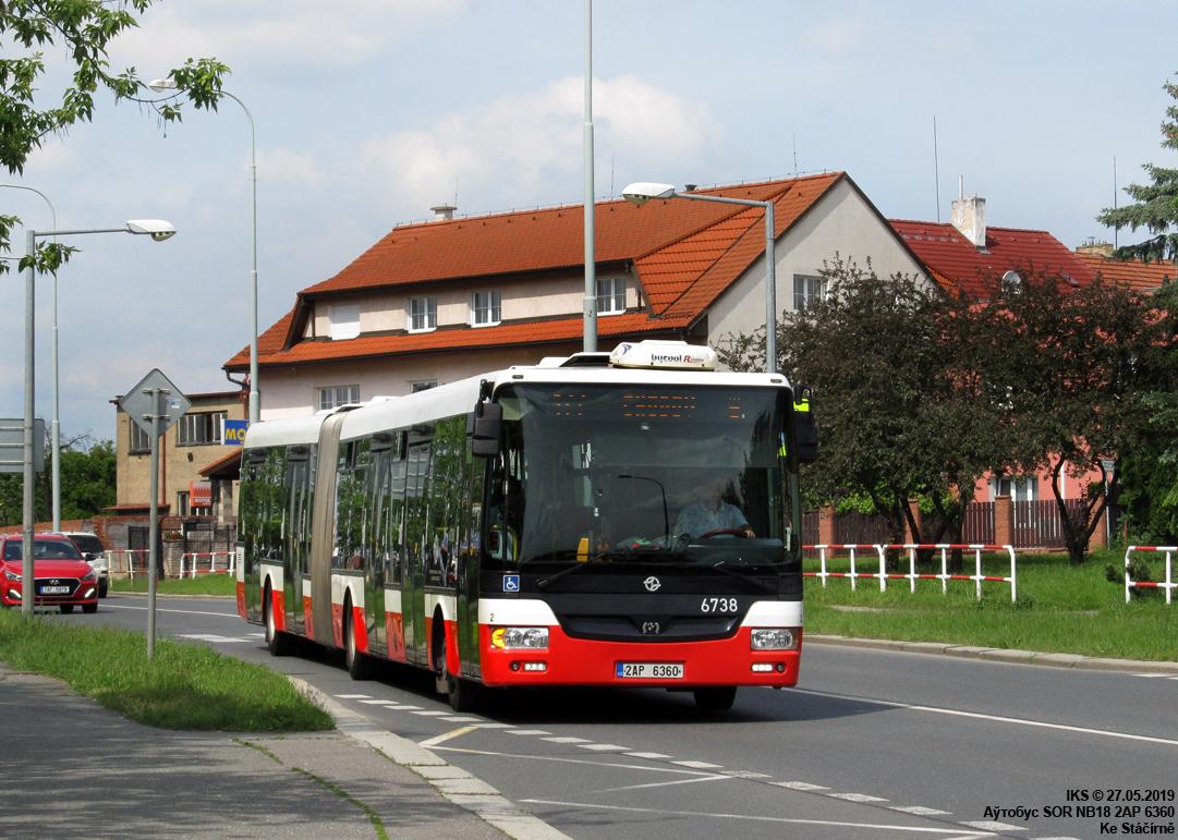Prague, SOR NB18 # 6738