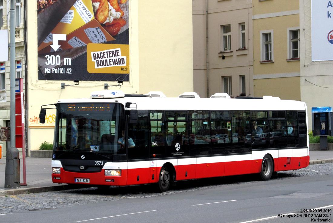 Prague, SOR NB12 # 3573