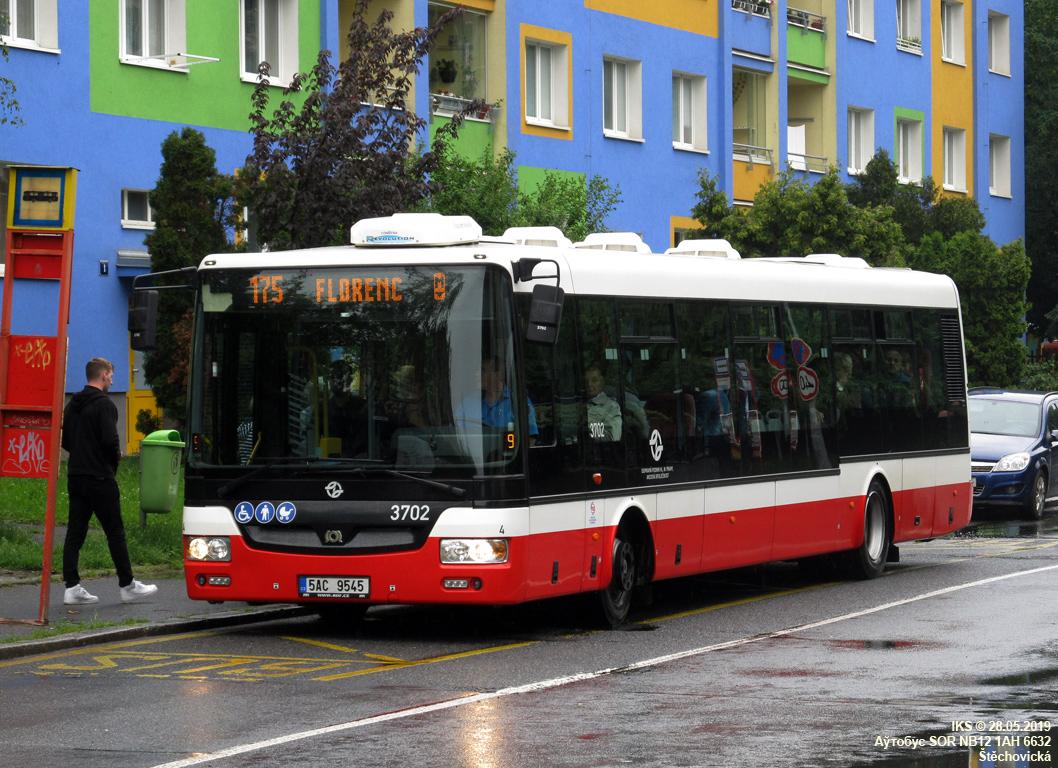 Prague, SOR NB12 # 3702